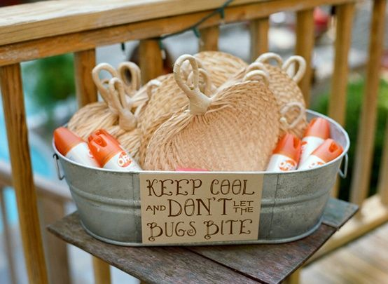 How To Keep Your Guests Comfy At Your Outdoor Wedding: Utterly Brilliant Outdoor Wedding Ideas!