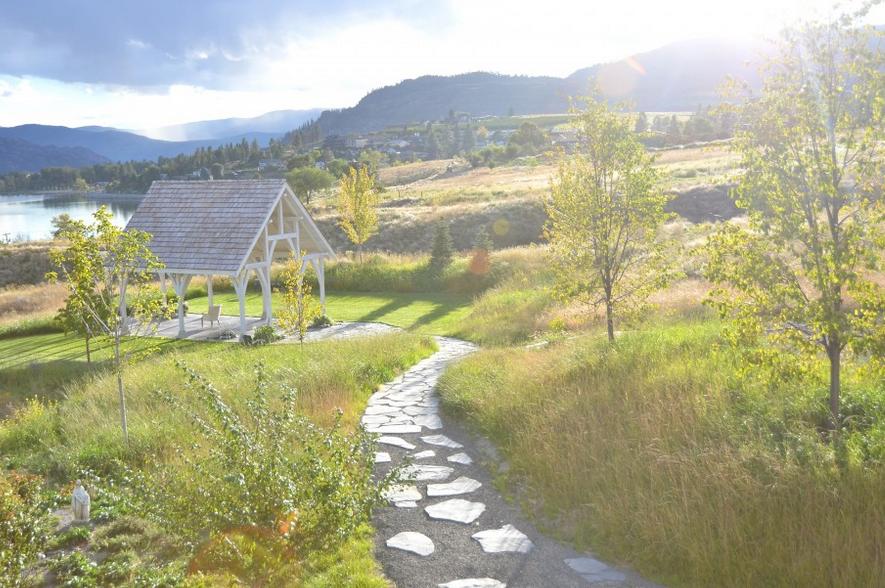 Kelowna Wedding Venues - Sanctuary Gardens Kelowna overlooking Okanagan Lake