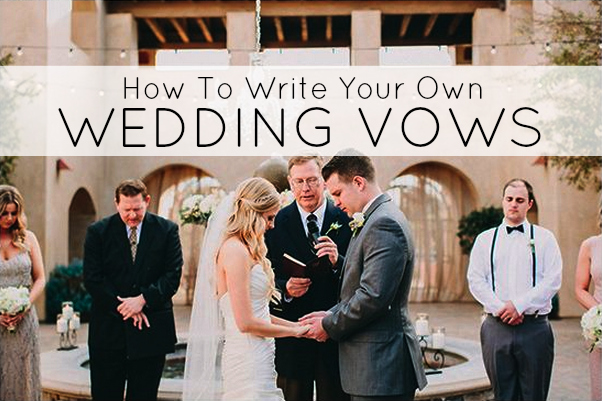writing personal wedding vows Pick the most important points and make them if yours are running longer than two minutes, makes some edits put some of the more personal thoughts in a letter or gift to your fiancé on the morning of your wedding and save any guest-related topics for your toasts practice out loud (seriously.