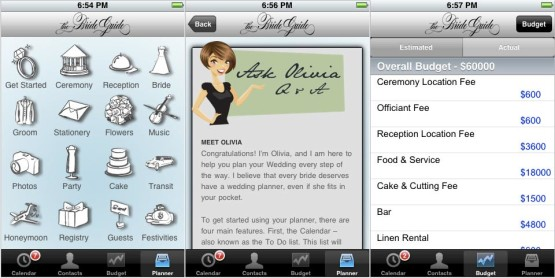 wedding planning app – bride guide