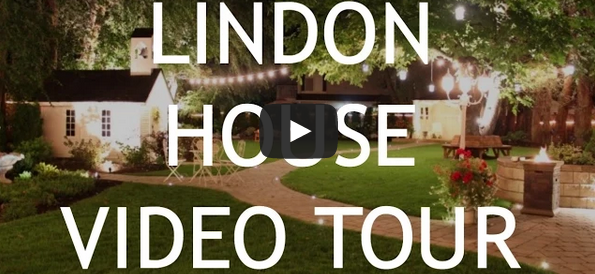 video tour of lindon house at a wedding - backyard setup, facilities and other details about the wedding venue