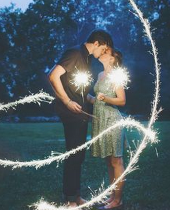 Creative Wedding Photography Props - Sparklers