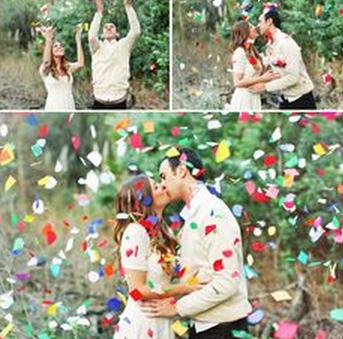 Creative Wedding Photography Props - confetti!