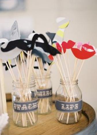 DIY Wedding Photo Booth Props