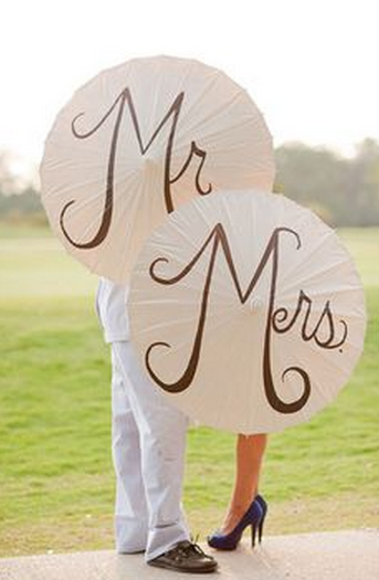 Mr and Mrs Umbrellas AWESOME WEDDING PHOTO PROPS