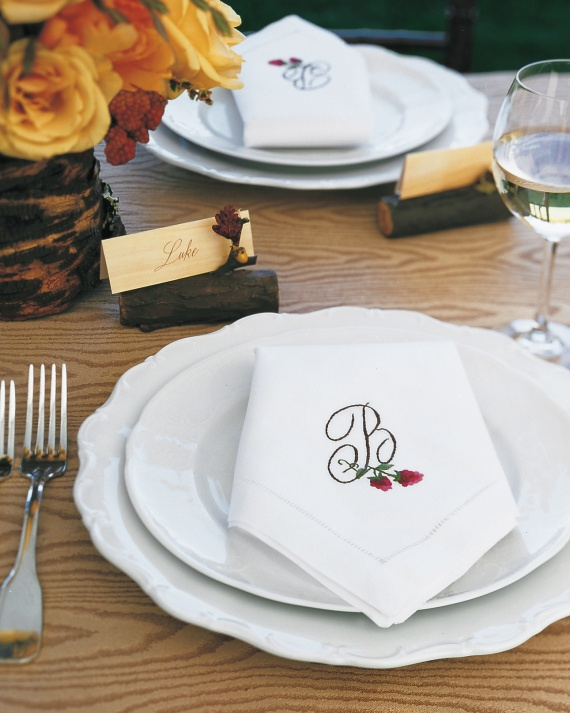 2 Personalized wedding napkins for your reception