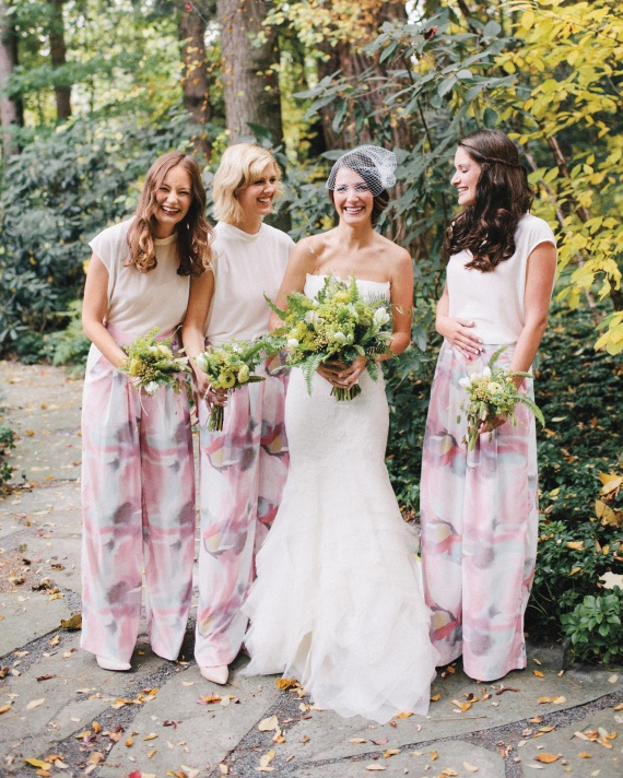 4 Girls giggling at photoshoot wedding party