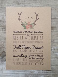 4 Handwritten Customizable Wedding Invitations on Etsy