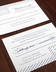 5 Wedding Invite with website link