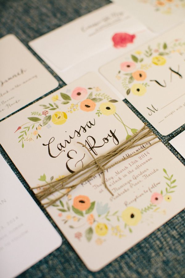 perfect garden wedding invitations