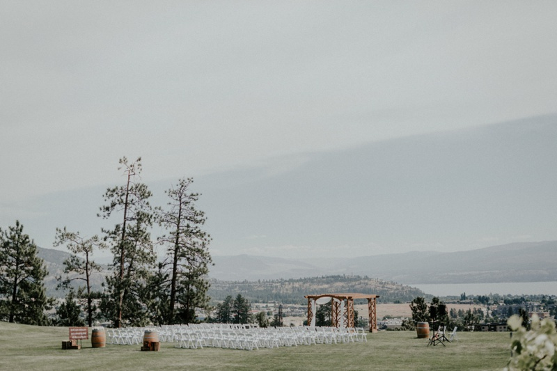 ceremony at off the grid winery Laurel Packing House + Off The Grid Organic Winery Wedding by Tailored Fit Photography